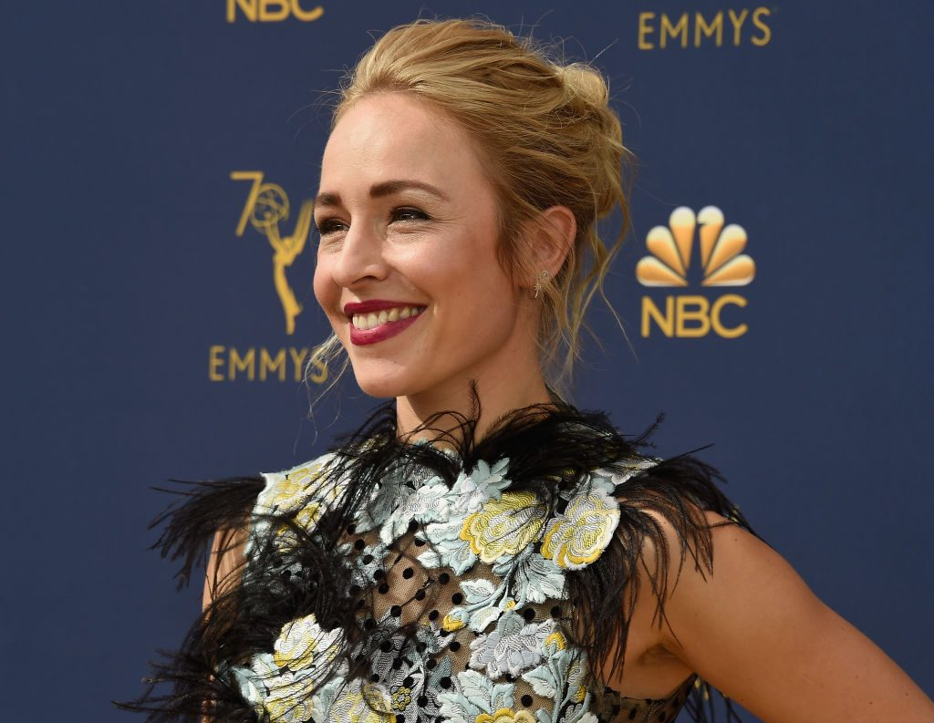 Sarah Goldberg at the Primetime Emmy Awards on September 17, 2018