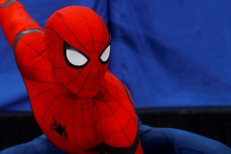 Tom Holland in Spider-Man costume
