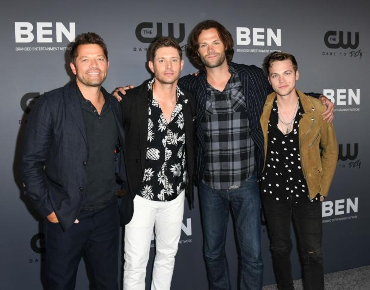 Misha Collins, Jensen Ackles, Jared Padalecki and Alexander Calvert