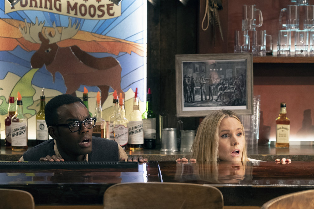 The Good Place Season 3: William Jackson Harper as Chidi, Kristen Bell as Eleanor Shellstrop