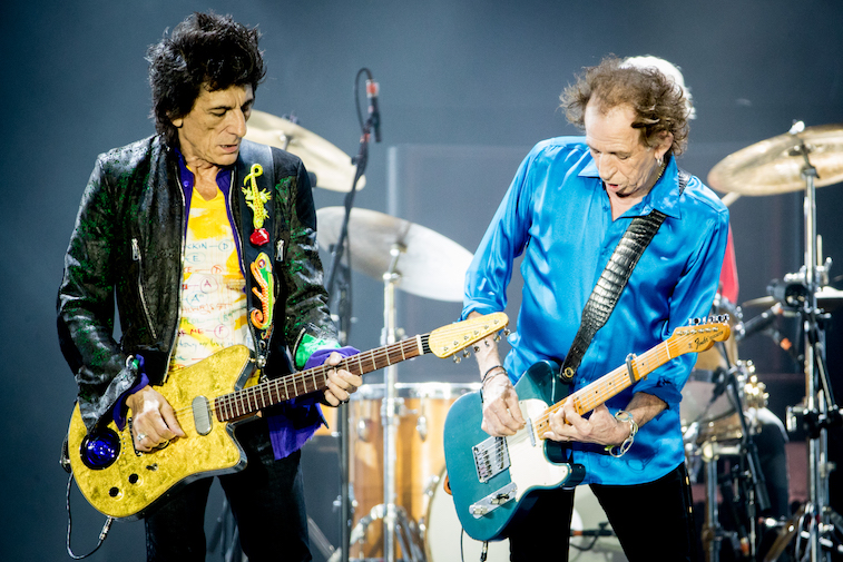 Ronnie Wood and Keith Richards of The Rolling Stones perform onstage
