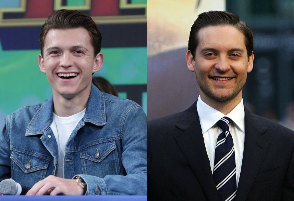 Tom Holland and Tobey Maguire composite image