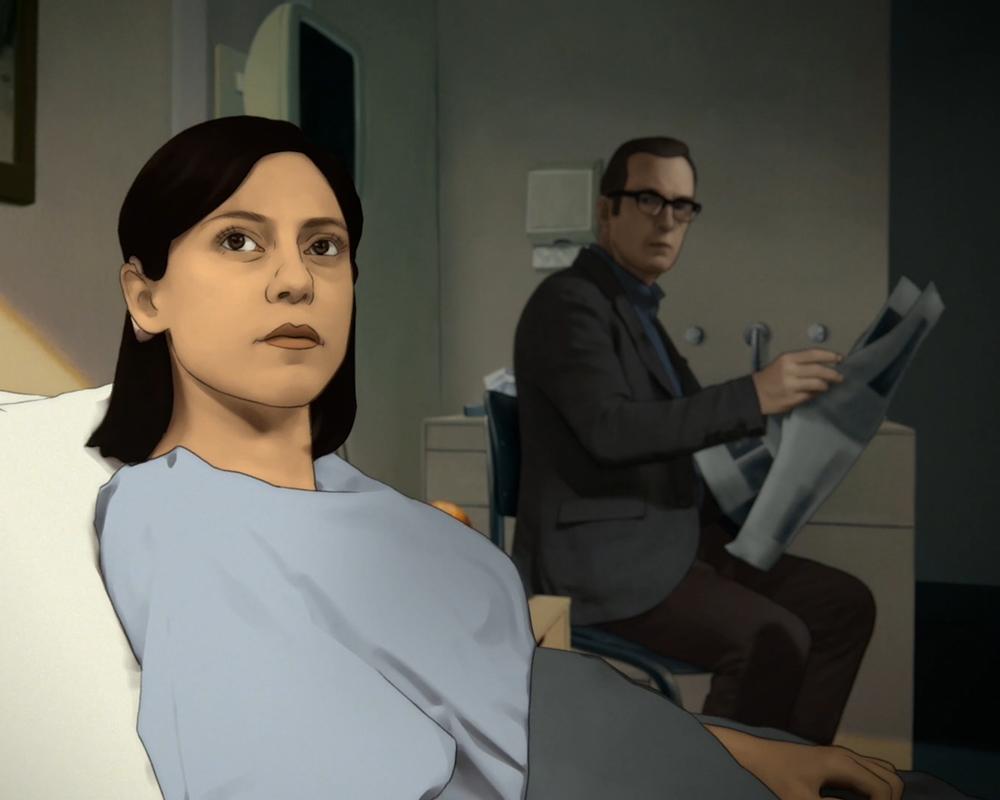 Rosa Salazar and Bob Odenkirk in Undone