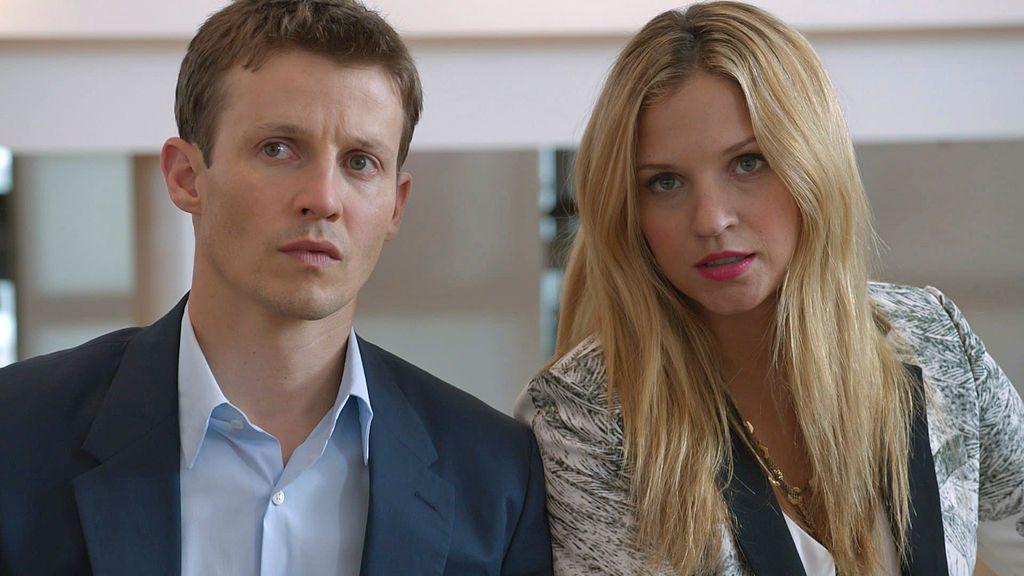 Will Estes as Jamie Reagan and Vanessa Ray as Eddie Janko | CBS via Getty Images