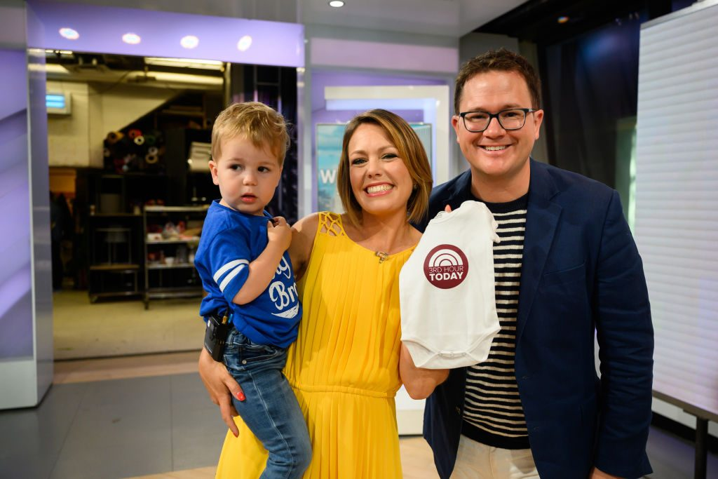 """""""Today Show's"""" Dylan Dreyer with husband Brian Fischera and son Calvin"""