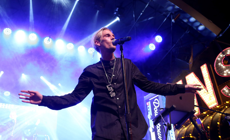 Aaron Carter performs onstage