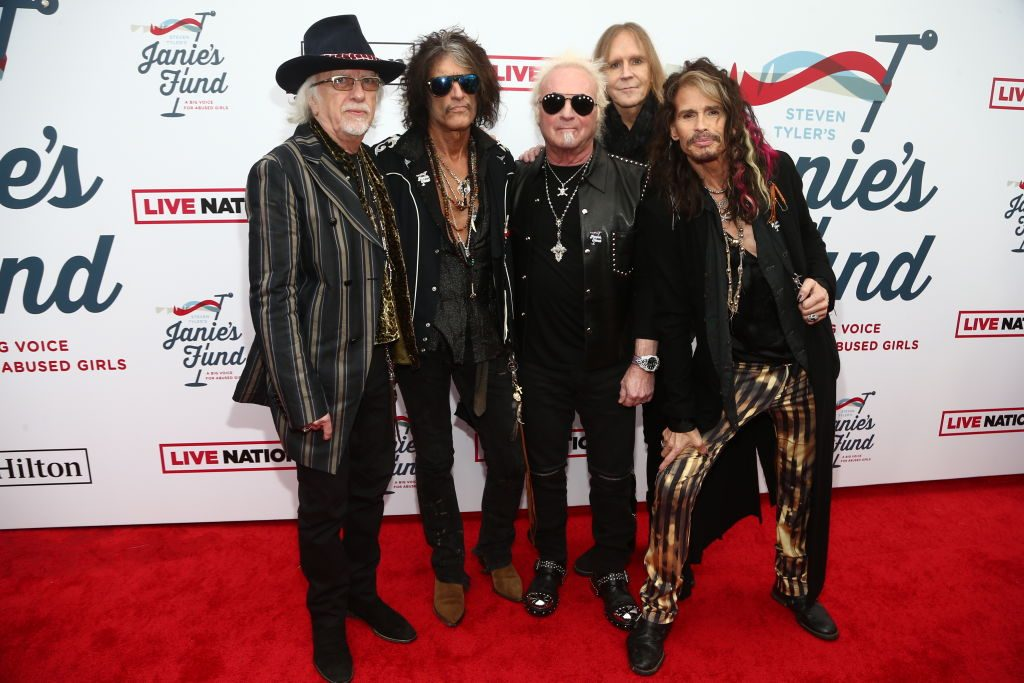 Aerosmith walks the red carpet