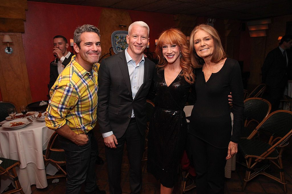 Andy Cohen, Anderson Cooper, Kathy Griffin, and Gloria Steinem