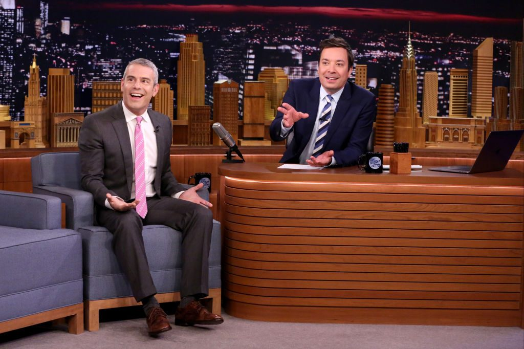 Andy Cohen with host Jimmy Fallon