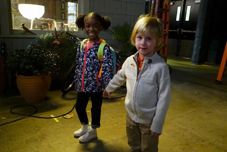 Meredith's children, Zola and Derek