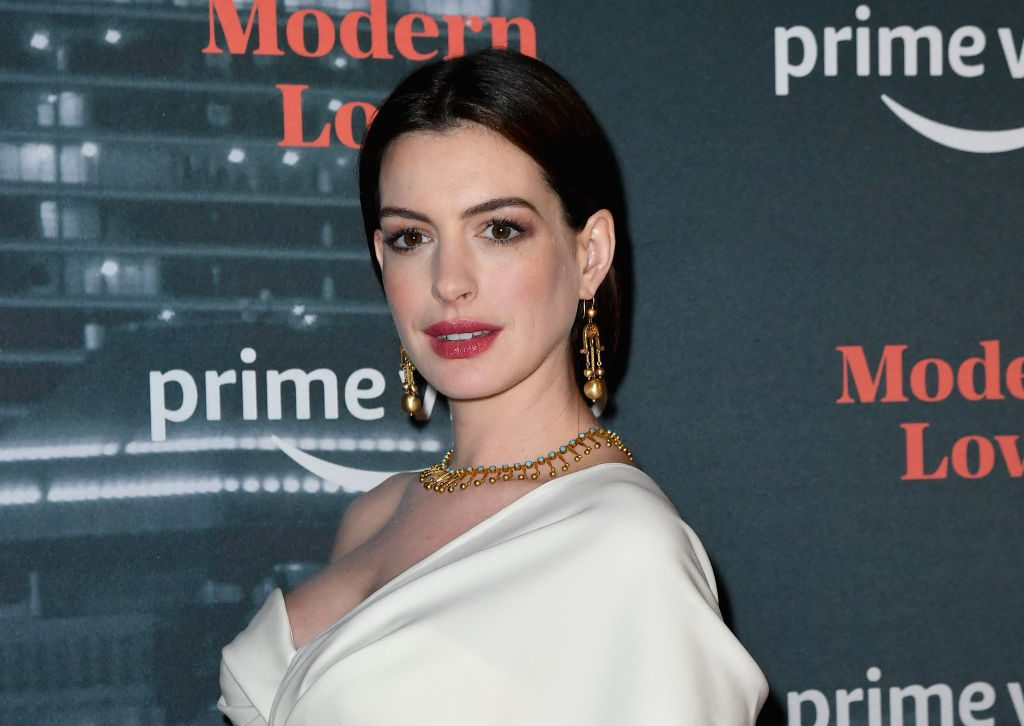 """Anne Hathaway attends the Amazon Prime Video """"Modern Love"""" premiere reception. 