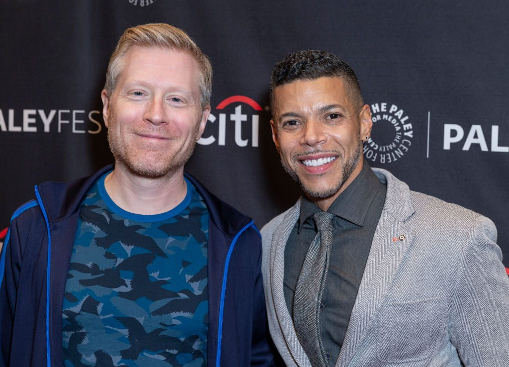 Anthony Rapp and Wilson Cruz attend PaleyFest Star Trek: Discovery