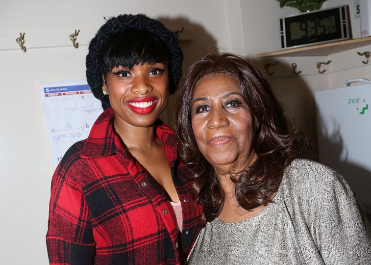 Aretha Franklin and Jennifer Hudson