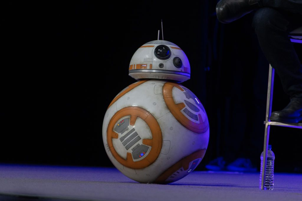 BB-8 attends the 'Star Wars: Episode IX' panel at the 2019 Star Wars Celebration