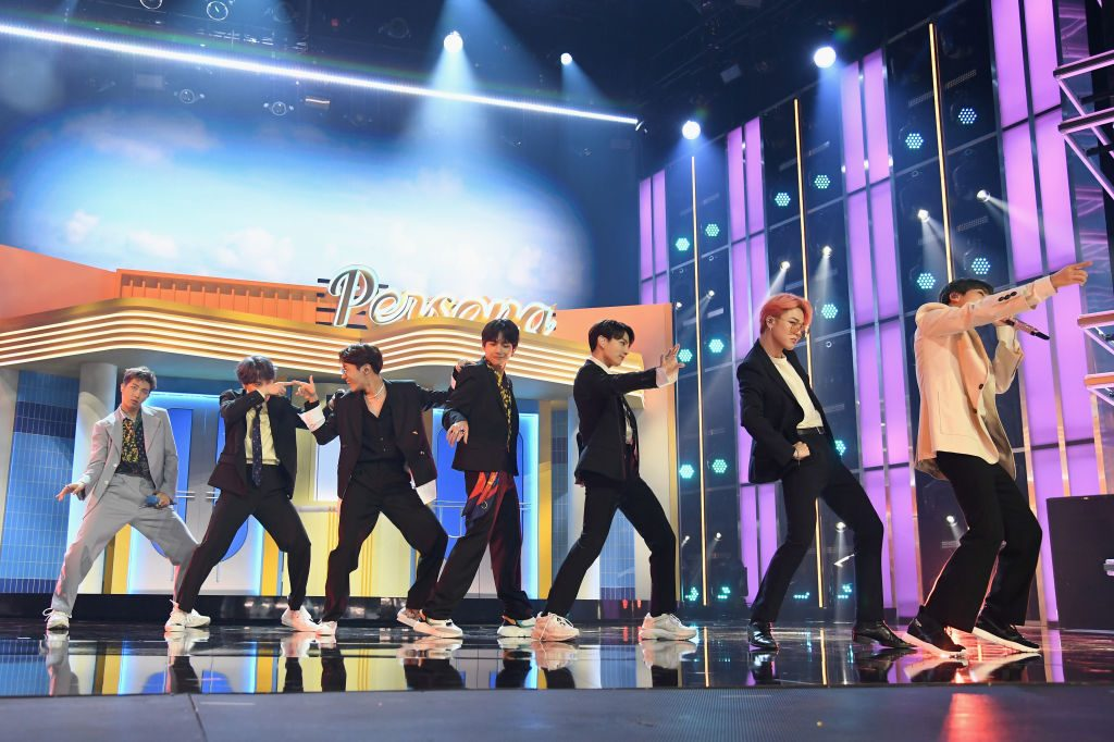 BTS performs onstage during the 2019 Billboard Music Awards