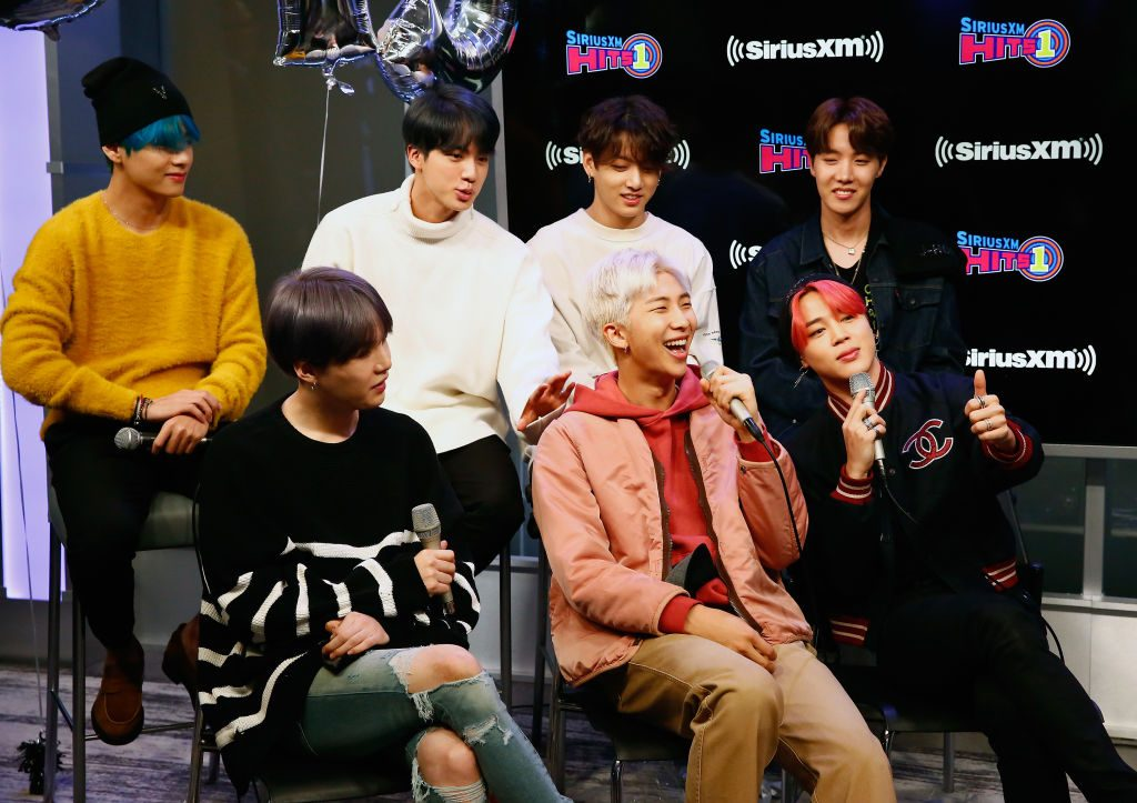 South Korean group BTS visit 'The Morning Mash Up' On SiriusXM Hits 1 Channel