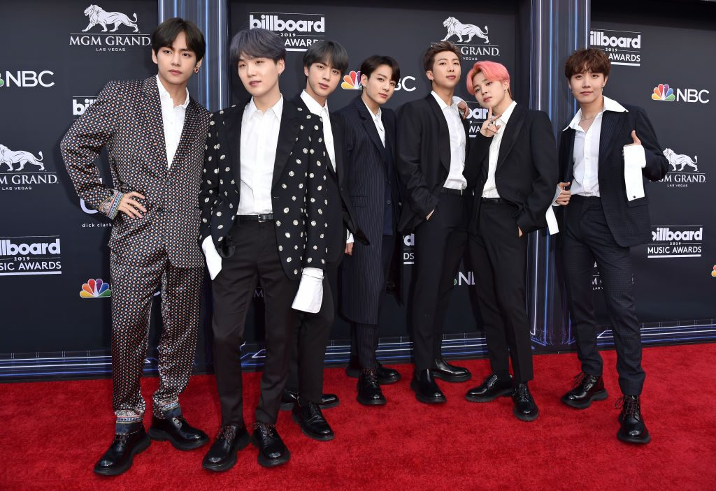 V, Suga, Jin, Jungkook, RM, Jimin and J-Hope of BTS at 2019 Billboard Music Awards - Arrivals