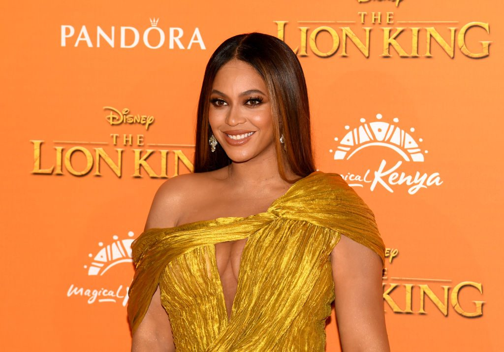 "Beyoncé Knowles-Carter attends the European Premiere of Disney's ""The Lion King"""