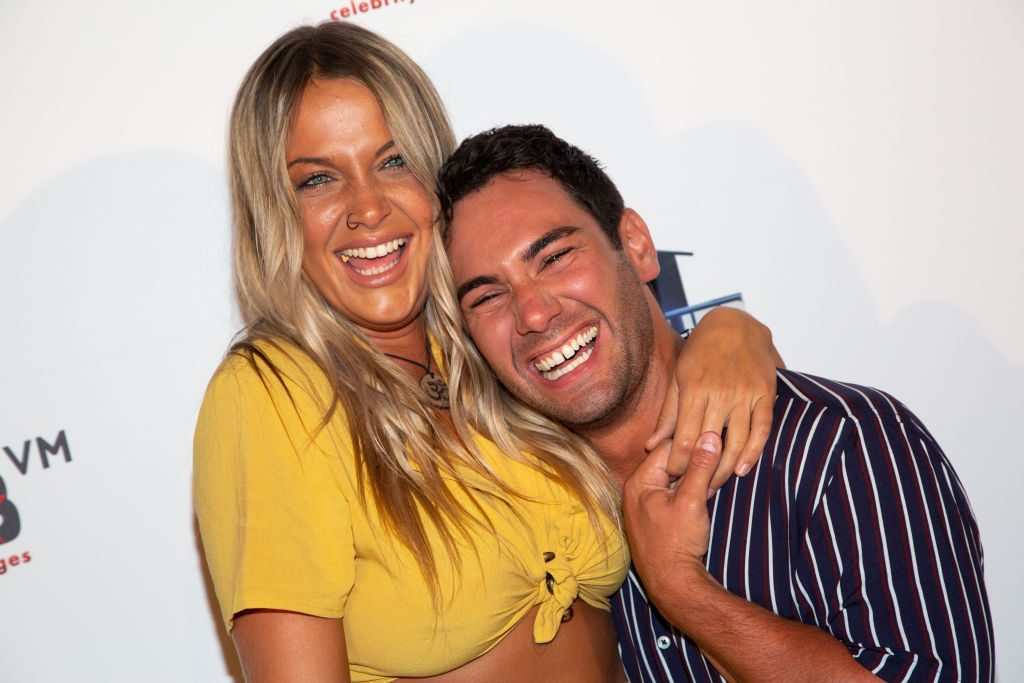 """Christie Murphy (L) and Tommy Bracco arrive for the """"Big Brother"""" 21 Finale"""