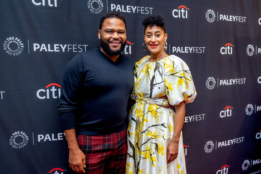 "Anthony Anderson and Tracee Ellis Ross attend a screening of ""Black-ish"" during PaleyFest"
