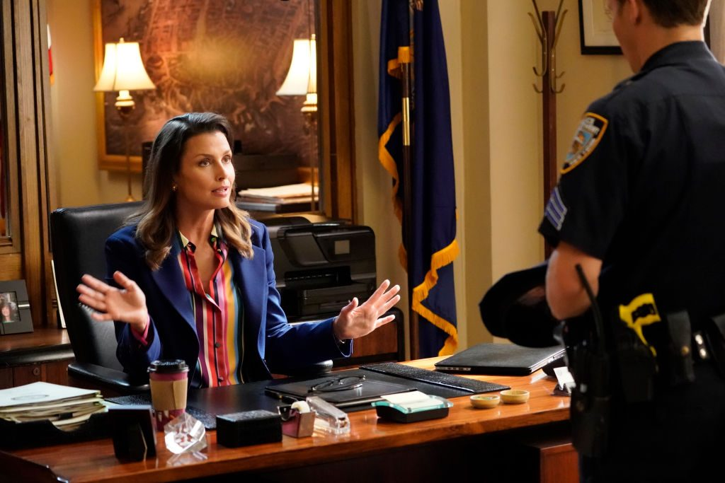 Bridget Moynahan as Erin Reagan and Will Estes as Jamie Reagan on 'Blue Bloods'