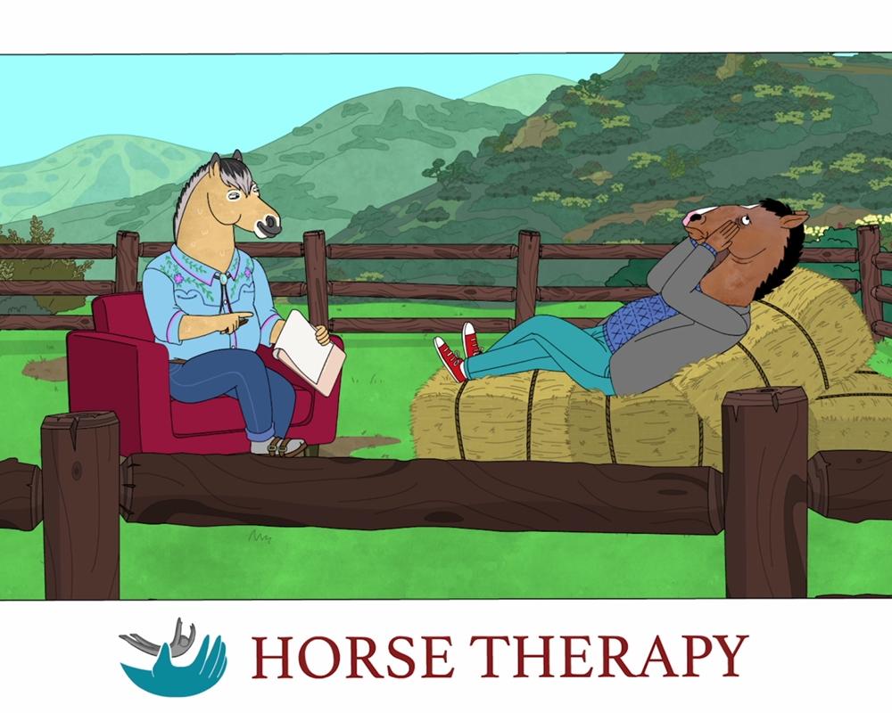BoJack Horseman in therapy