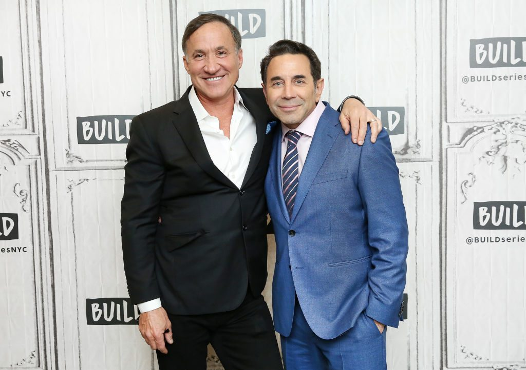 Dr. Terry Dubrow (L) and Dr. Paul Nassif visit Build Studio to discuss their television show 'Botched'