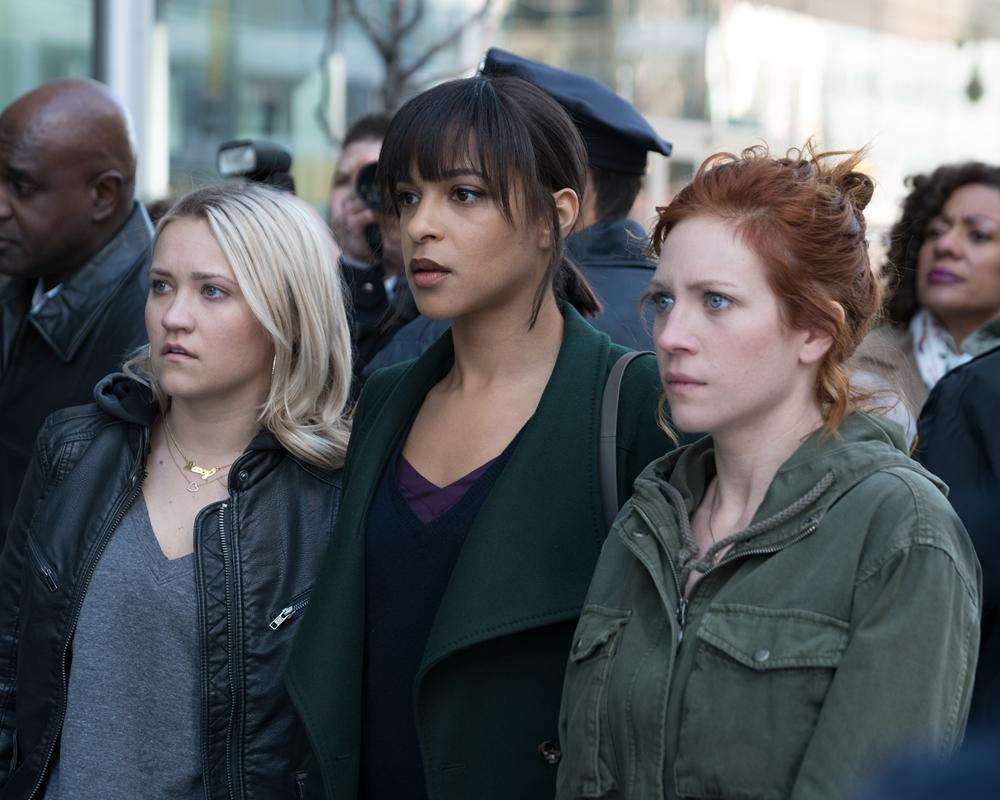 Brittany Snow, Megalyn Echikunwoke and Emily Osment