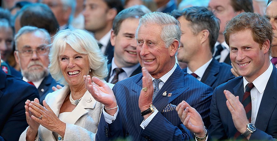Camilla Parker Bowles, Prince Charles, and Prince Harry