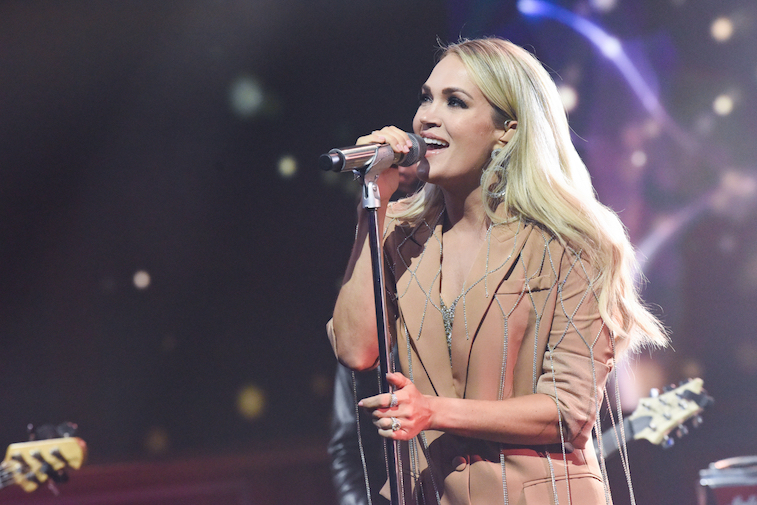Carrie Underwood performs onstage