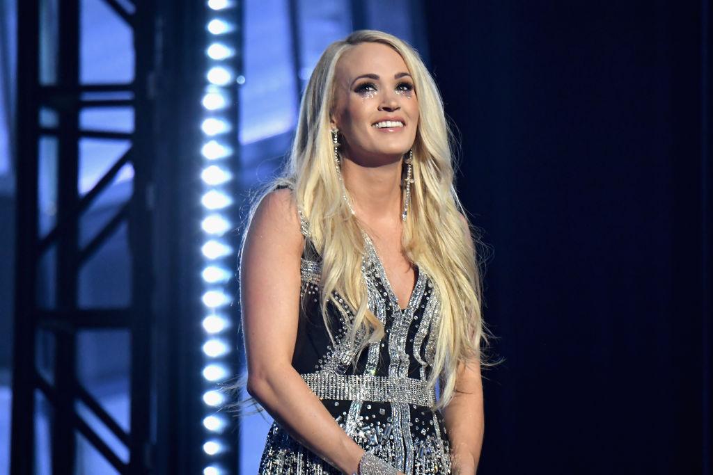 Carrie Underwood performing onstage