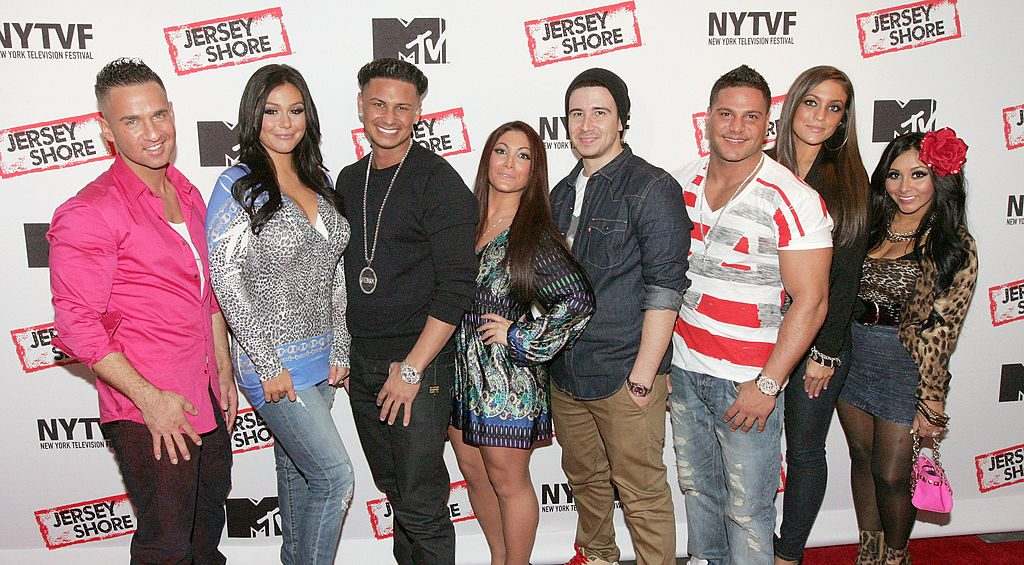 The cast of 'Jersey Shore' at an event