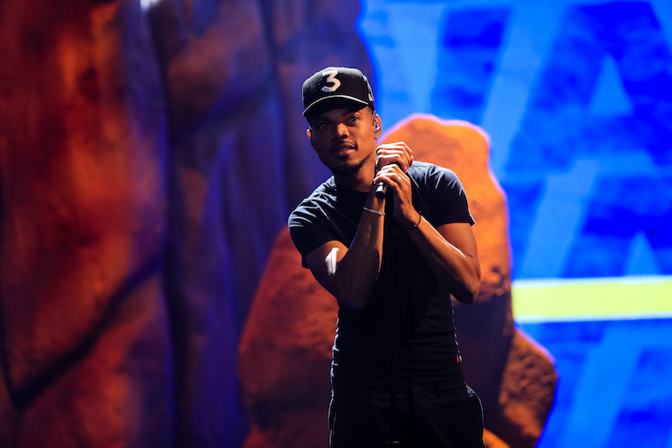 Chance the Rapper performs onstage