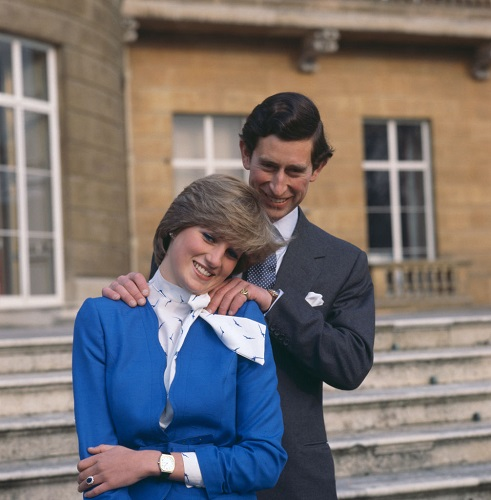 Charles, Prince of Wales with Lady Diana Spencer
