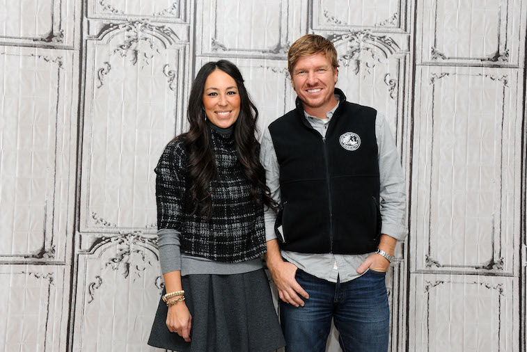 Chip and Joanna Gaines during a 'Fixer Upper' interview