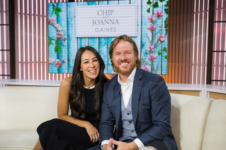 Chip and Joanna gaines on the set of the Today show