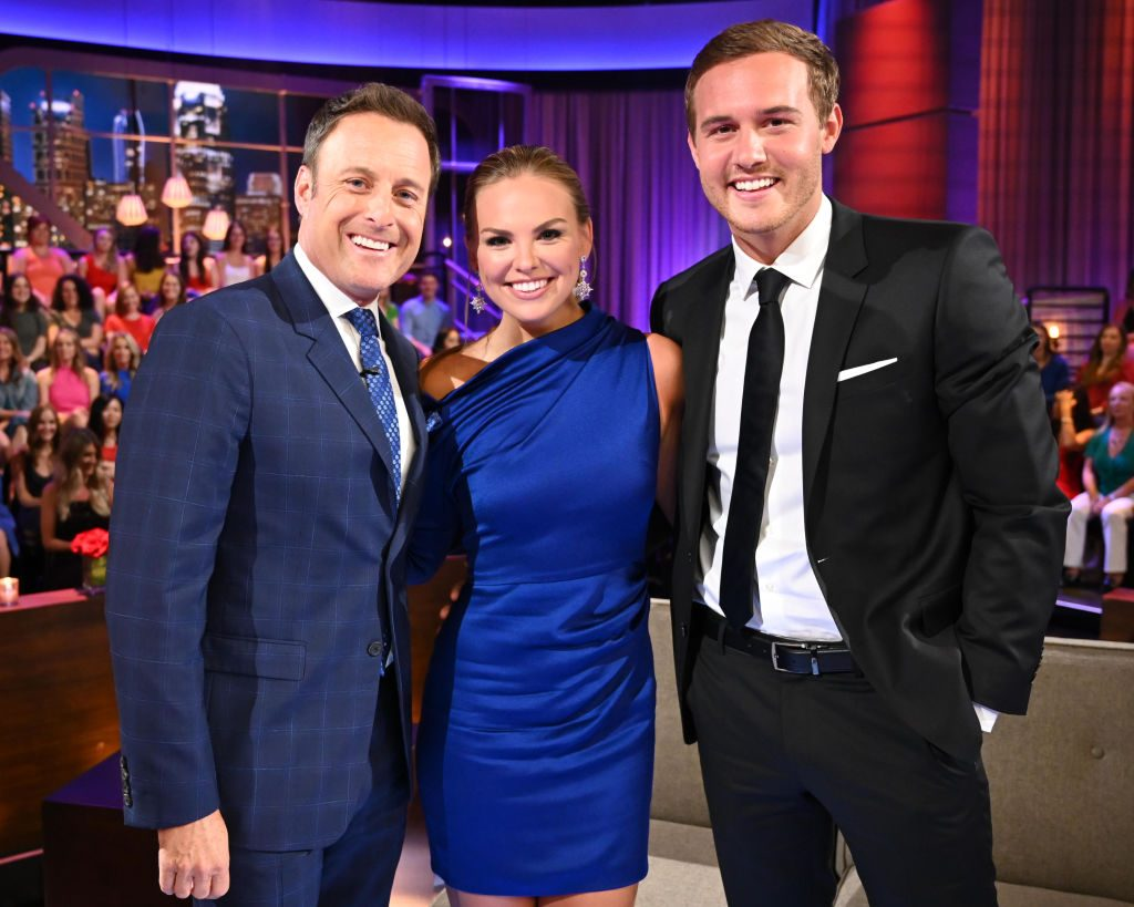 Chris Harrison, Hannah Brown, and Peter Weber from 'The Bachelorette' reunion