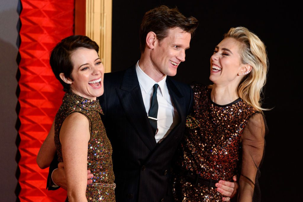 Claire Foy, Matt Smith and Vanessa Kirby on the red carpet