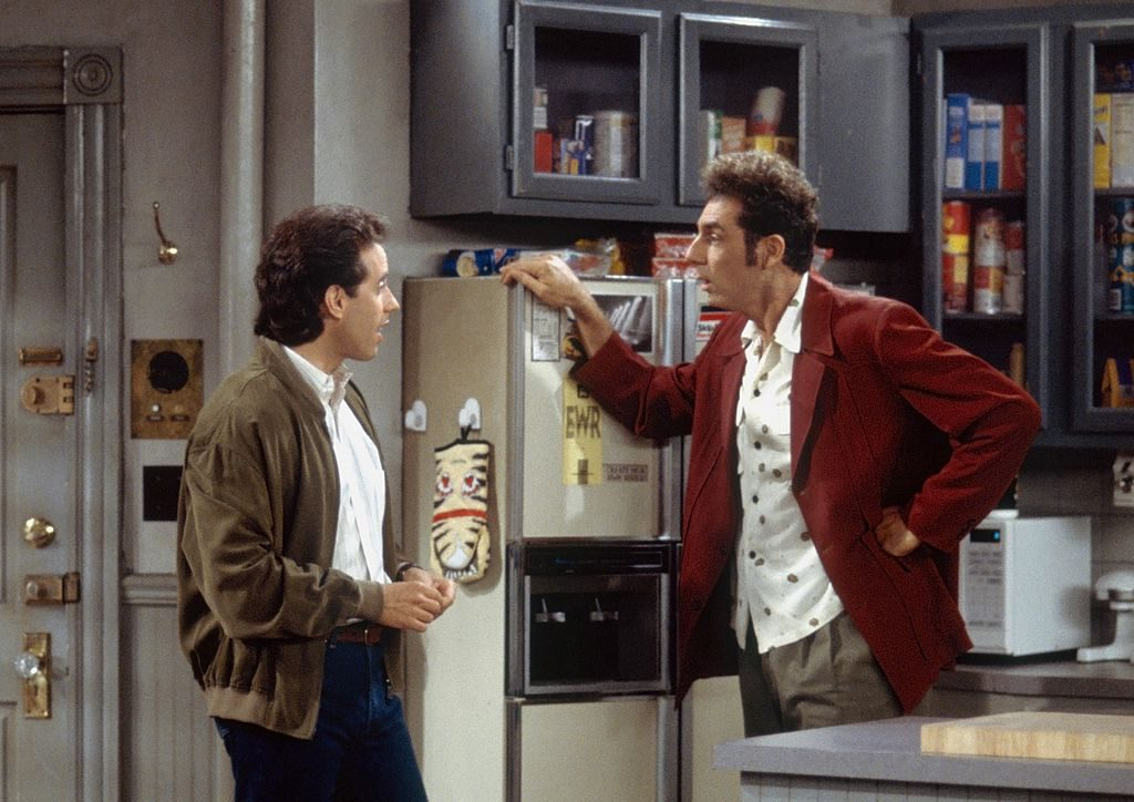 Jerry Seinfeld as Jerry Seinfeld, Michael Richards as Cosmo Kramer