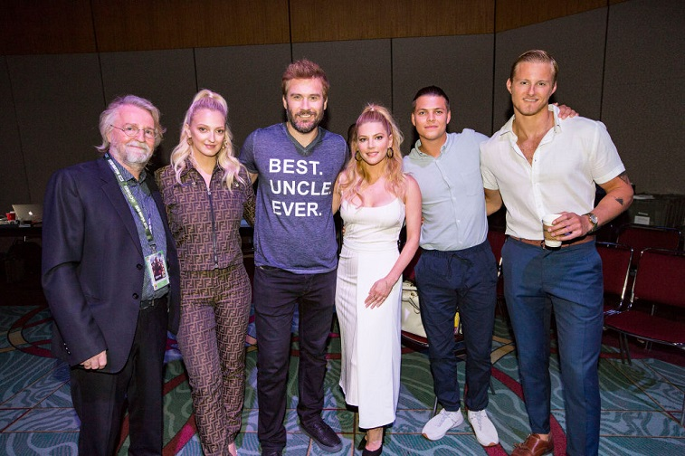 The creator and partial cast of 'Vikings'