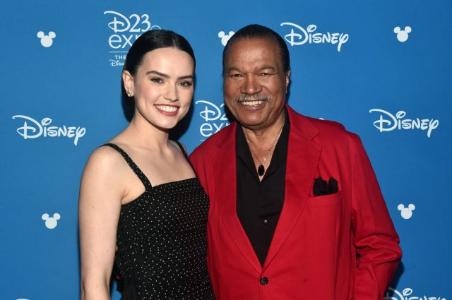 Daisy Ridley and Billy Dee Williams at Disney's D23 EXPO