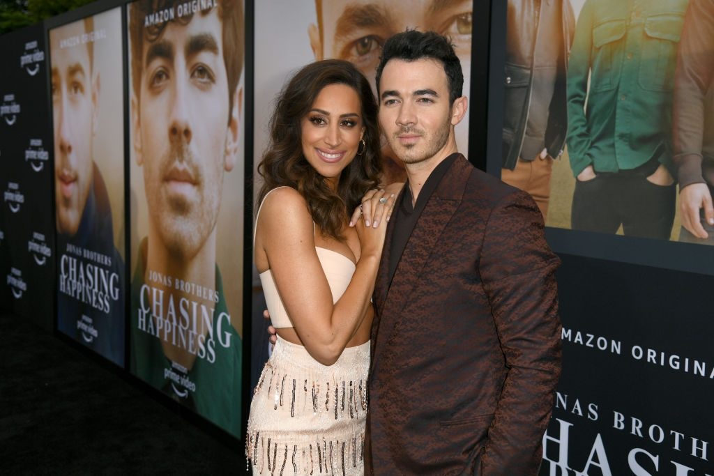 Danielle and Kevin Jonas attend the Premiere of Amazon Prime Video's 'Chasing Happiness'