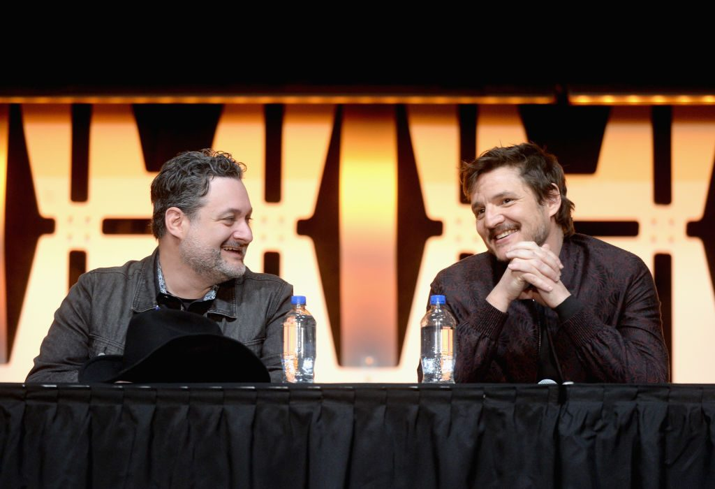 Dave Filoni and Pedro Pascal (The Mandalorian)