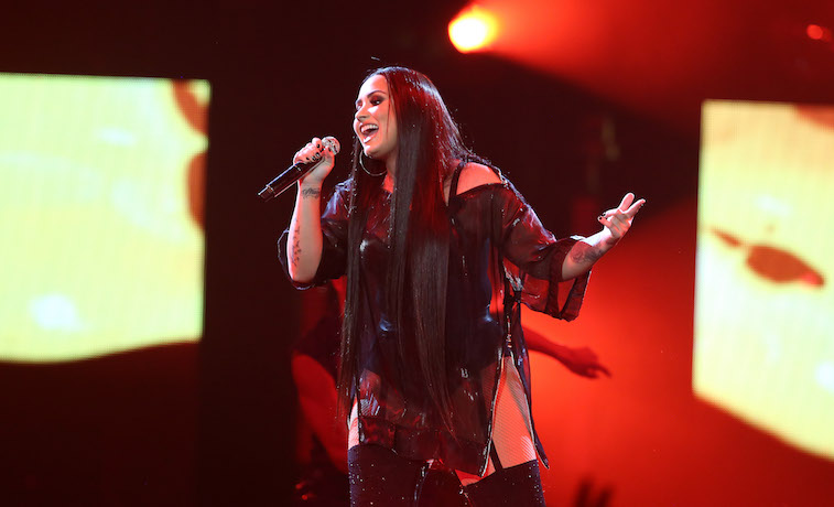 Demi Lovato performs onstage