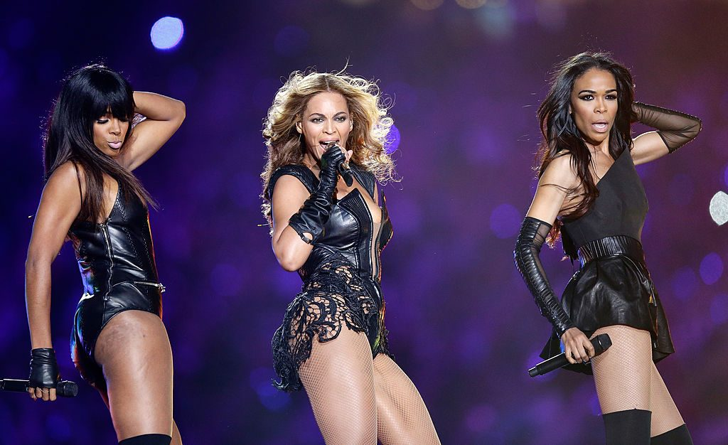 Destiny's Child performs at the SuperBowl Halftime Show