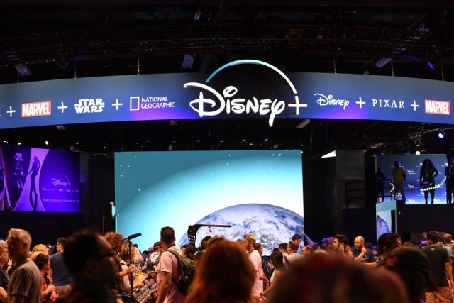 The Disney+ streaming service booth at the D23 Expo