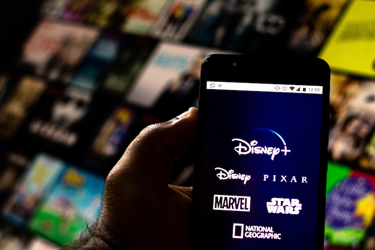 The Disney+ app shown on a mobile phone screen