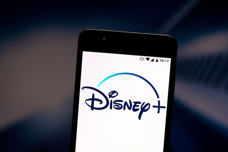 Disney+ logo shown on a smart phone screen