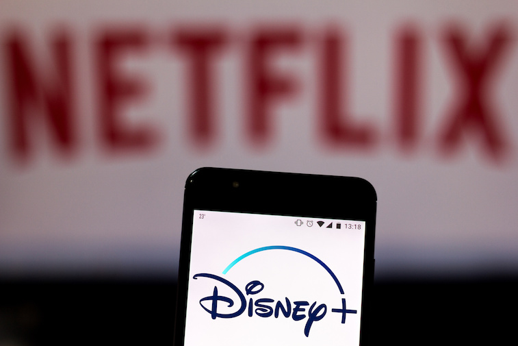 Disney plus app showing on a mobile phone screen