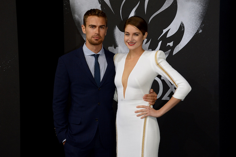 Theo James and Shailene Woodley on the red carpet